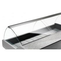 Fermeture arrière en flex pour vitrine réfrigérée d'exposition poisson L 3000 mm
