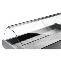 Fermeture arrière en flex pour vitrine réfrigérée d'exposition poisson L 3500 mm