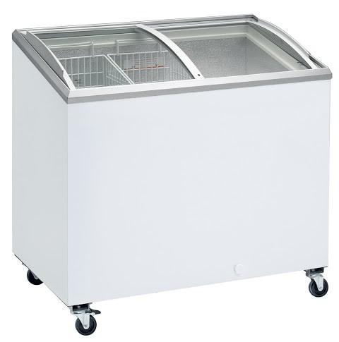 Congelateur professionnel coffre porte vitr e bomb e et coulissantes ic 300 - Congelateur coffre 100 litres ...