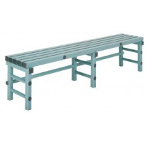 Banc plastique simple, L 1000 mm