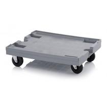 Chariot porte bacs gris pour 2x bacs 600 x 400 mm