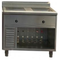 Meuble d'expo avec induction, 1 feu, gamme d'exposition, sur mesure, 2 x 4000 W