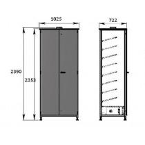 Armoire ventilée modulable, 24 paires, inox