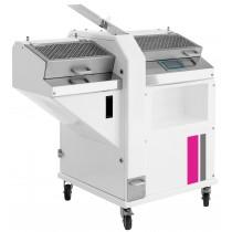 Trancheuse à pain automatique et réglable, sur support à roulettes, 0.55 kW