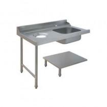Table de prélavage pour machines à paniers 600 x 500