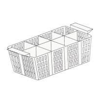 Godet pour couverts, 8 divisions, 490 x 180 x 190 mm