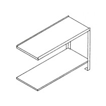 Table laterale droite 1200 x 590 x 850 mm