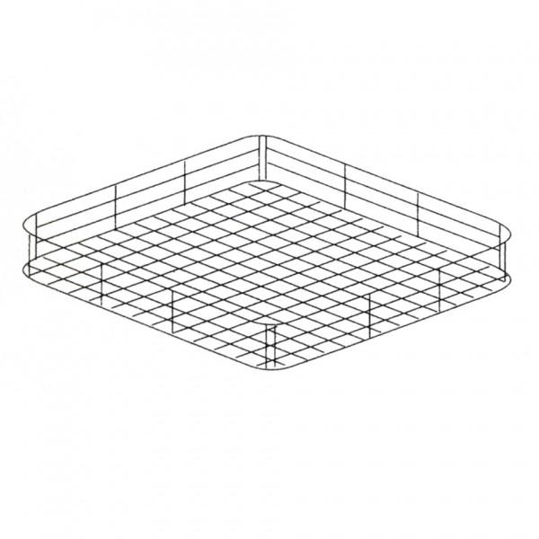 Panier acier inox l 550 x p 665 x h 75 mm pour lave for Panier rangement cuisine inox