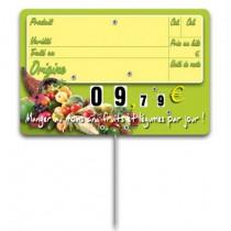 Etiquette fruits et légumes, 200 x 150 mm, grand format, lot de 10