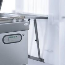 Rouleaux inox d'entrée ou de sotie produits externe pour machine a emballer sous vide industrielle