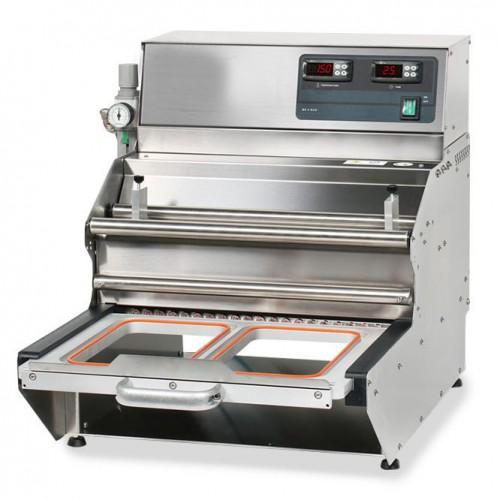 Conditionnement et emballage, operculeuse barquette, semi-automatique BS 5 ECO sans matrice