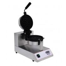 Machine à gauffre en inox, plaque en fonte, Ø 170 mm, 1 kW