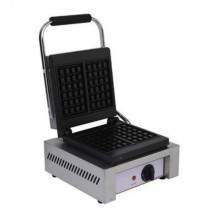 Machine à gauffre en inox, plaque en fonte, 1.5 kW