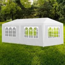 Tente de réception blanc, polyéthylène, 3 x 6 m