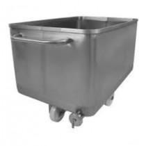 Cuve inox avec vidange et roues, acier inoxydable 304, 300 L