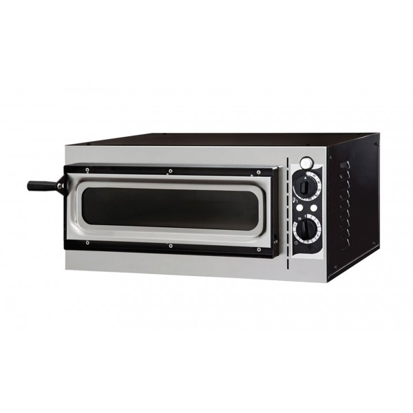 Four à pizza, éléctrique mécanique, acier inox, Basic 1/40 GLASS & LIGHT - 2 thermostats