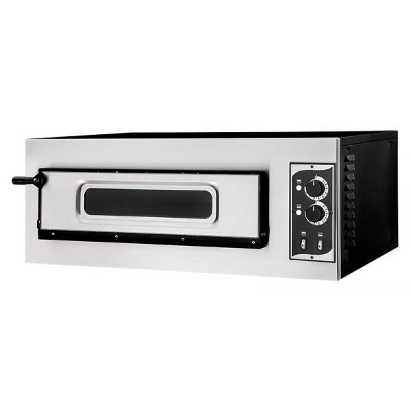 Four à pizza éléctrique mécanique, acier inox, Basic 1/50 GLASS & LIGHT - 2 thermostats