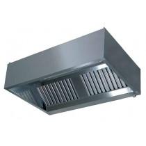 Hotte standard neutre rectangulaire, acier Inox AISI 441, 1320 M3/H
