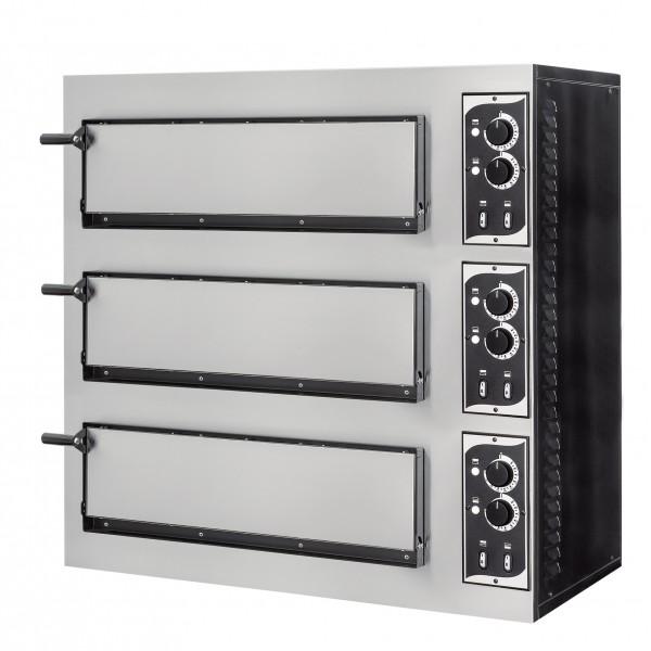 Four à pizza éléctrique mécanique, inox, Basic 3/50 6 thermostats
