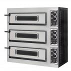 Four à pizza éléctrique mécanique, inox, Basic 3/50 GLASS - 6 thermostats