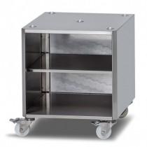 Meuble de rangement sur roulettes pour machine a emballer sous vide max , H 590mm