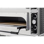 Four à pizza, éléctrique mécanique, acier inox, Basic medium 44