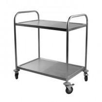 Chariot de service pour cuisine, inox, 2 ou 3 plateaux, longueur 845 mm