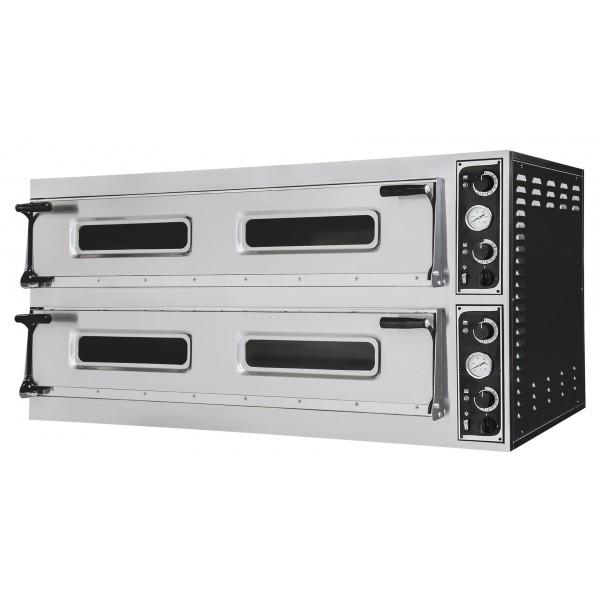 Four à pizza, éléctrique mécanique, aier inoxydable, TRAYS 66L