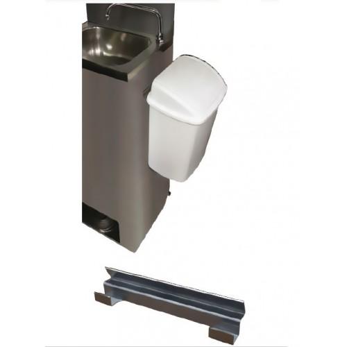 Poubelle amovible 15 L en PP avec couvercle basculant sur support inox