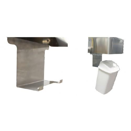 Support inox + poubelle 12 L à accrocher sous lave-mains LMD
