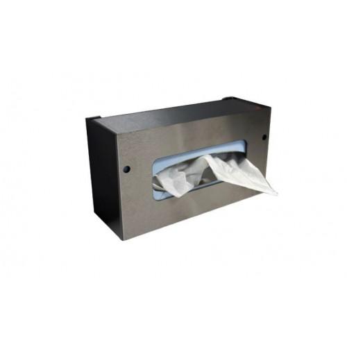 Boite inox distributrice de gants ou mouchoirs murale