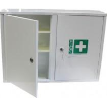 Armoire à pharmacie, 2 portes métal, L 500 x P 245 x H 500 mm