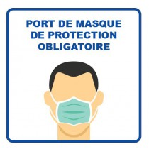 Panneau d'information, visuel masque, format 400 x 400 mm