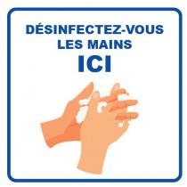 Panneau d'information, visuel desinfection, format 400 x 400 mm