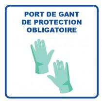 Panneau d'information, visuel gant, format 400 x 400 mm