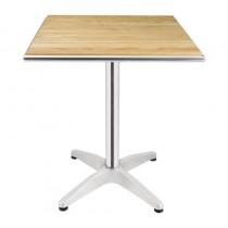 Table carrée, plateau en frêne, Bolero, L 600 x P 600 x H 720 mm