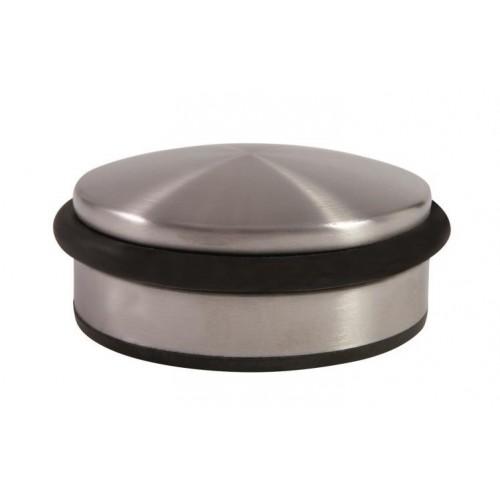 Butée de porte lestée, en acier et elastomère