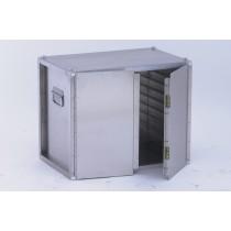 Coffre traiteur non isotherme, double porte, 9 plaques ou grilles 600 x 400 mm