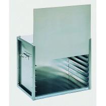 Coffre traiteur non isotherme, porte à guillotine, 9 plaques ou grilles 600 x 400 mm