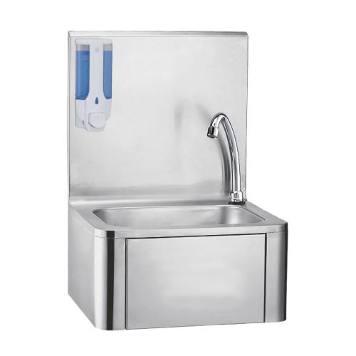 Lave-mains à commande fémorale, inox AISI 304