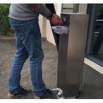 Distributeur à gel sur roues, avec commande au pied, 2.5 L