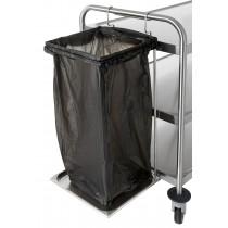 Support sac poubelle 70 litres crochetable, L 360 x l 355 x 810 mm pour chariot