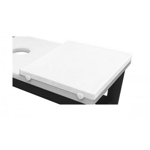 Plaque de découpe cuisine blanc avec butée, polyéthylène, profondeur 600 mm