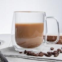 Lot de 6 tasses à café, en verre, double paroi, 350 ml