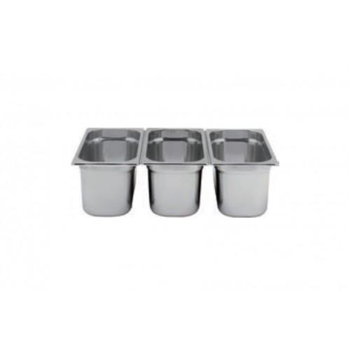 BAC GN 1/3 H. 150 inox pour conditionneur sous vide