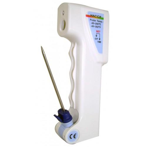 Thermometre professionnel, infrarouge et sonde perçante 80 mm