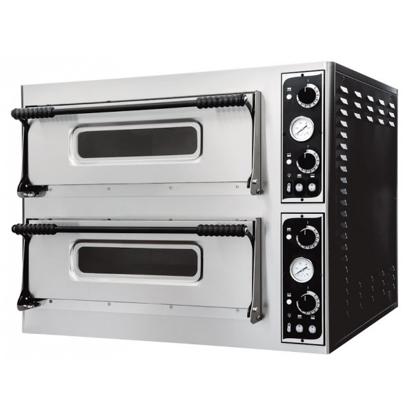 Four à pizza, éléctrique mécanique, acier inox, Basic XL 44