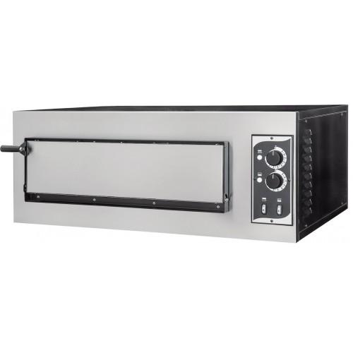 Four à pizza, éléctrique mécanique, acier inox, Basic 1/50 2 thermostats