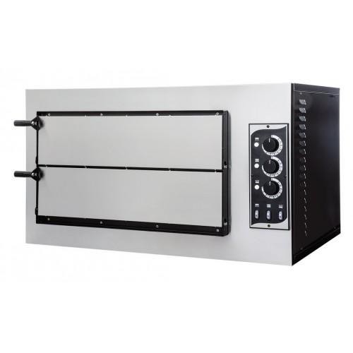 Four à pizza éléctrique mécanique, acier inox, Basic 2/50 3 thermostats