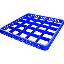 Réhausse casier à verre, bleu, 25 compartiments